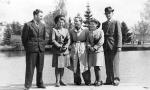 Zdjęcie wykonano w parku w czasie okupacji hitlerowskiej (ok. 1942 r.).