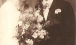 Zdjęcie ślubne Aleksandra Dawida (1899-1930) syna Edwarda Dawida i Walerii z Łęskich i Felicji z Soczyńskich (1905-2000). Aleksander Dawid był dyrygentem w Towarzystwie Śpiewaczym im. St. Moniuszki. Zdjęcie z 1928 r. Fotografia z kolekcji J. Kaszyńskiego.