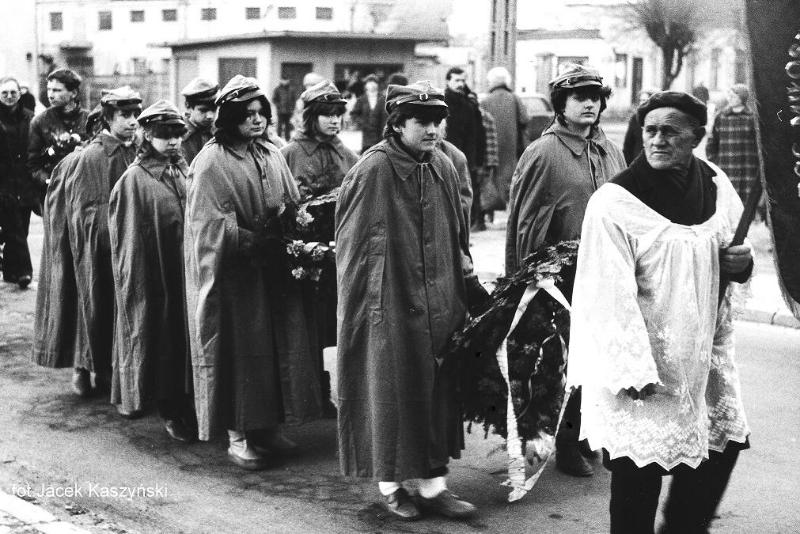 Zdjęcie z pogrzebu Henryka Fajta, grudzień 1988r.