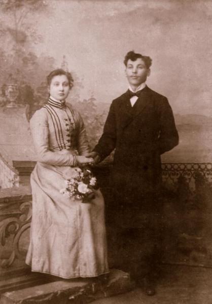 Fotografia ślubna z 1905 r.